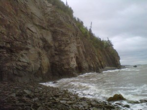 The raw, sea-battered cliffs at Cape Enrage
