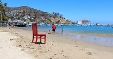 Red Chair at Avalon Hotel