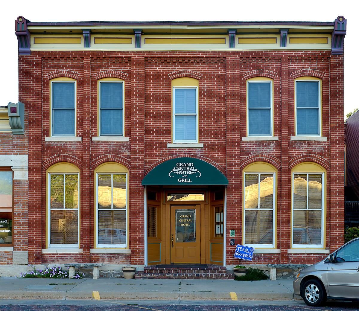 The Grand Central Hotel and Grill in Cottonwood Falls