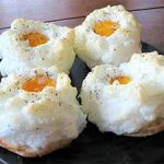 EGG CLOUD ON PARMESAN CRISP